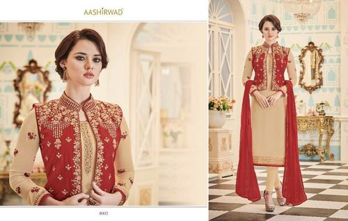 Designer Party Wear Salwar Suit With Koti Style