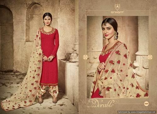 Designer Semi Georgette Anarkali Salwar Suit