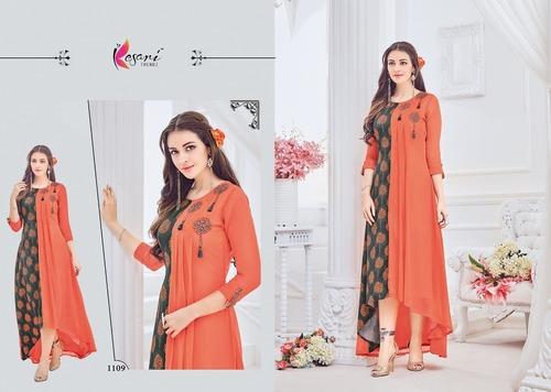 Designer Rayon Fabric Long Kurti