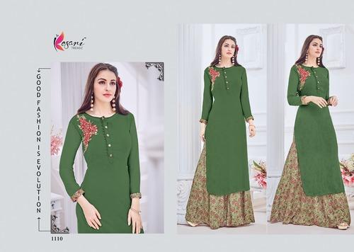 Indo-Western Style Designer Kurti