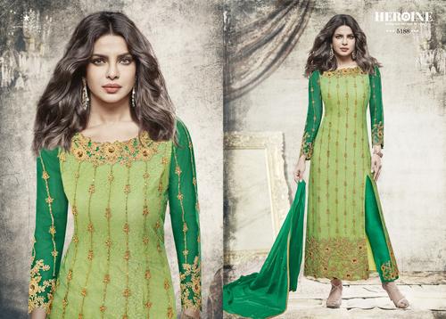 Green Designer Party Wear Salwar Suit
