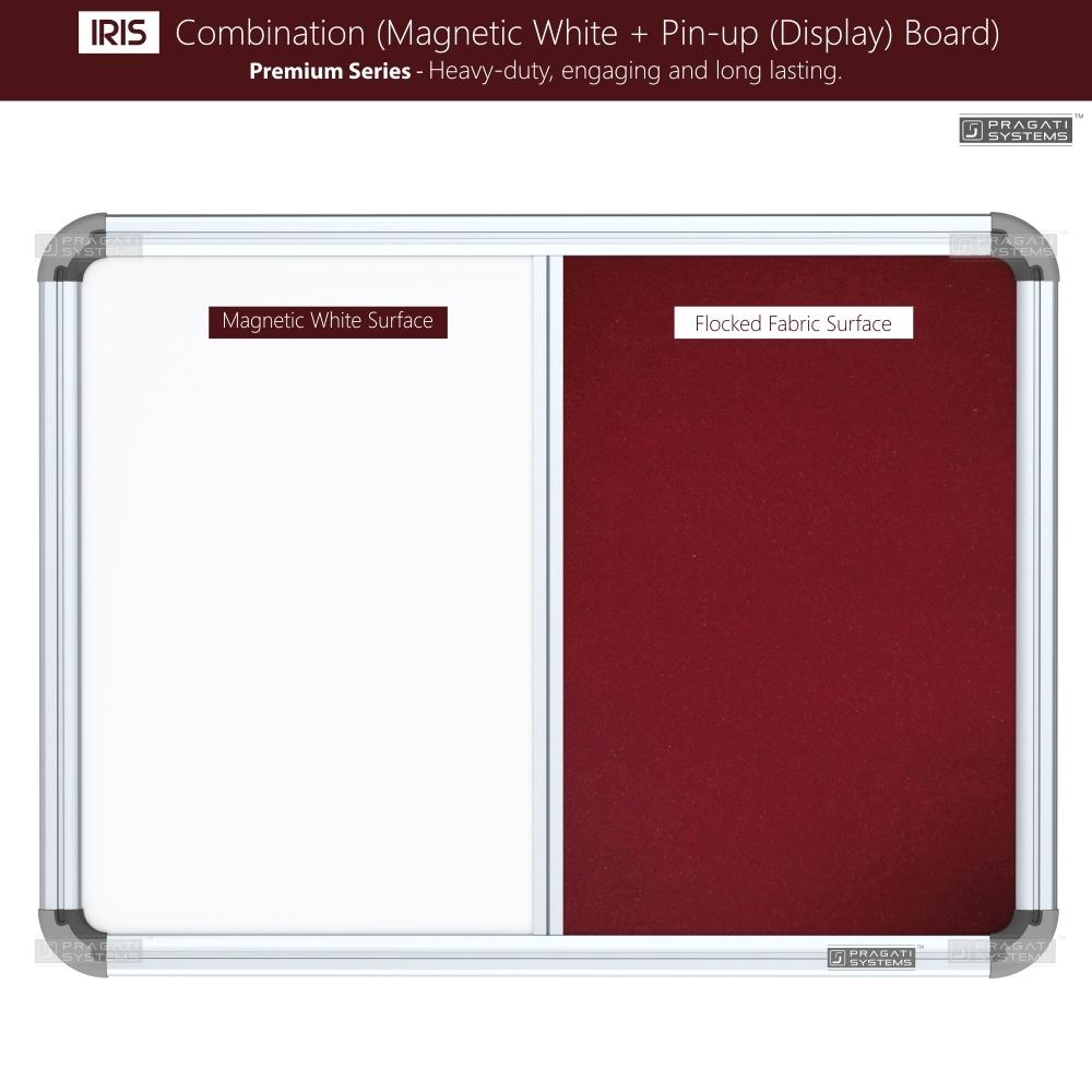 Iris Combination Board (Whiteboard + Pin-up Board)