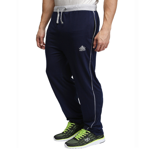 Mens blue&grey cotton pant