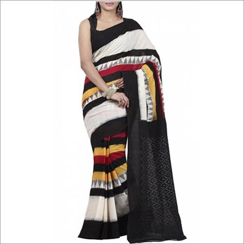 Ladies Ikat Mercerised Cotton Sarees