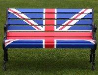 Union jack flag design patio bench