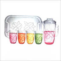 Household Juice Glass Set