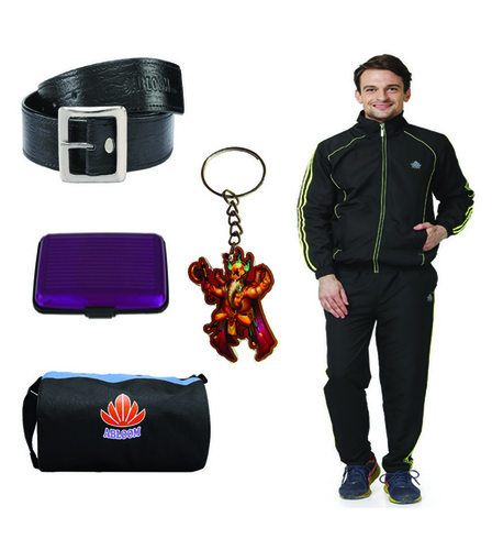 Mens Track suit combo (black&green)
