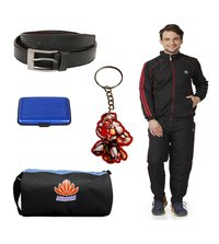 Mens Track suit combo (black&red)