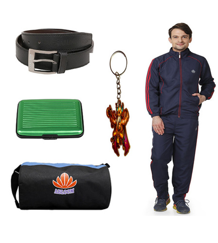Mens Track suit combo (nevy&red)