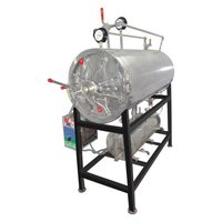 HORIZONTAL HIGH CYLINDER STEAM STERILIZER ( triple walled with steam jacket and separate boiler )