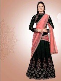 Velvet Wedding & Bridal Designer Lehenga Choli