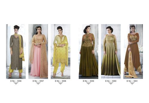Nakkashi Lunching New Party Wear Catalog Embellish 3056 To 3061 Series