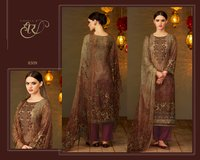 Embroidery Work And Digital Print Salwar Kameez