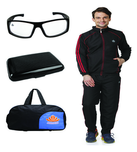 Track suit Duffle bag Combo(black & red )