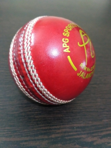 APG Red Leather Cricket Ball