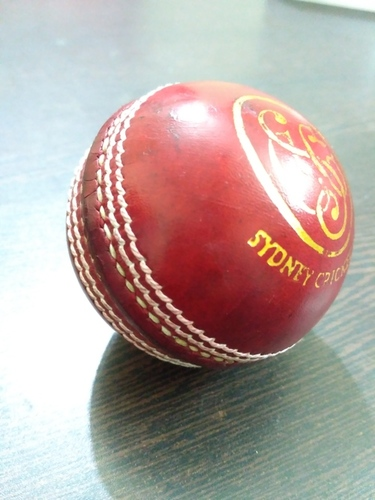 APG Promotional Leather Cricket Ball (Red)