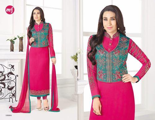 Georgette Designer Churidar Salwar Kameez