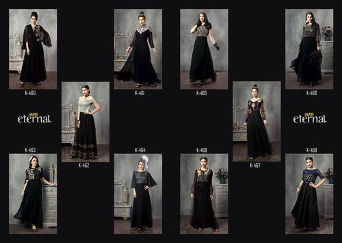 Eternal Lunching New Long Designer Kurtis The Black Stage Vol - 2, 460 to 469 Series