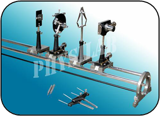 BI-PRISM ASSEMBLY COMPLETE WITH OPTICAL BENCH OF STEEL C.P RODS