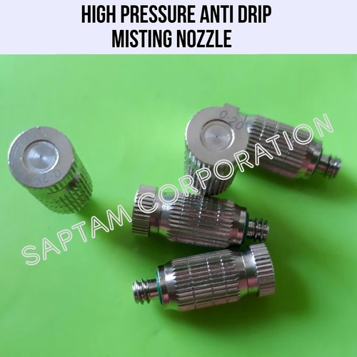 HIGH PRESSURE ANTI DRIP MISTING NOZZLE
