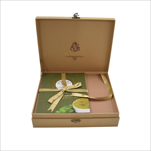 Wedding Card With Dry Fruit Gift Box