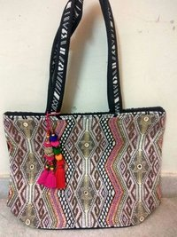 Beaded Embroidery Shoulder Bag