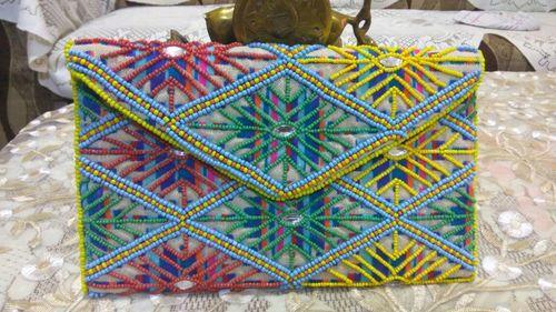 Beads Clutch Ladies Bags