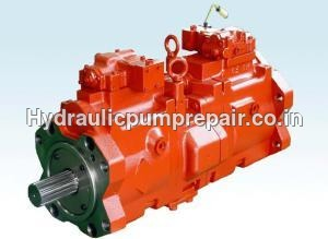 Terex Excavator hydraulic pump repair