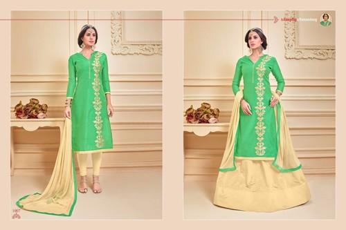 Designer Party Wear Cotton Salwar Suit