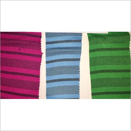 Black Striper Terry Fabric
