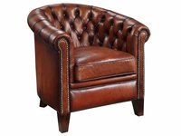 Chesterfield Back Leather Chair