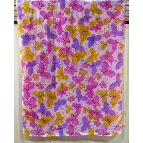 Butterfly printed chiffon scarves