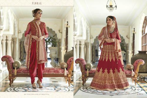 Red Long Heavy Anarkali Salwar Suit