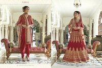 Red Long Heavy Anarkali Salwar Suit