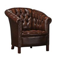 High Tufted  back vintage leather comfortable sofa