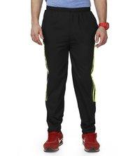 Black & green track pant for mens