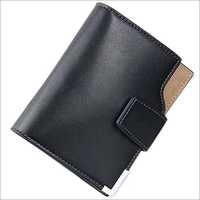 Black Colour Leather Wallets