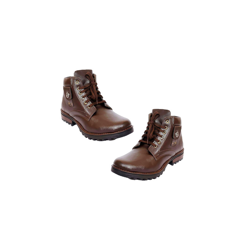 Men's Synthetic Leather Brown Boot