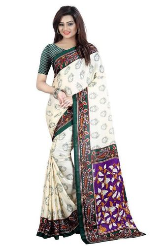 White Printed Designer Saree