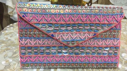 Hand Bag with Beads