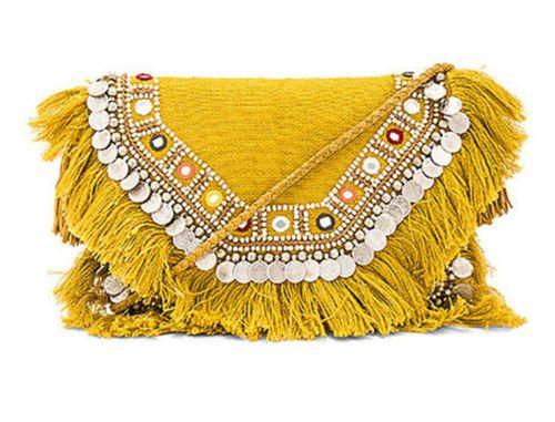 Ethnic fringes vintage bag