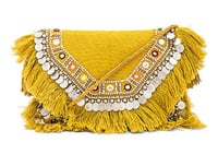 Ethnic fringes vintage bag