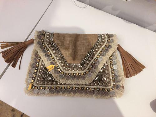Indian jute fringes bag