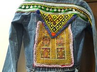 Tribal Boho Denim Jacket