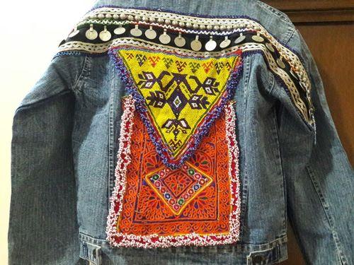 Boho Denim Jacket Banjara Gypsy Style