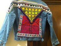 Denim Jacket Embellished Gypsy Born Wild Jacket
