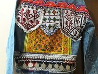 Kuchi Beaded Patchwork denim jacket