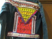 Embellished beaded denim jacket