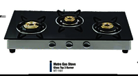 METRO 3 BURNER GLASS TOP