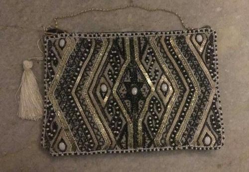 Beaded Pattern Sling Bag